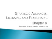 IB101_Strategic_Alliances_Licensing_and_Franchising_Ch6_REVIEW