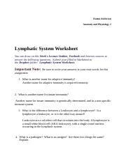 A & P 2 Lympathic System worksheet.docx
