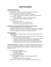 Partnership study guide.docx