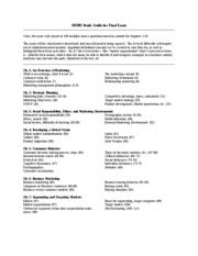 Study Guide Final Exam SP2008