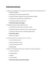 Exam 1 Sample Questions