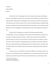 Hist 2200 - History of Medieval Society - Charlamagne assignment