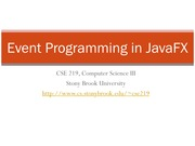 Event Programming in JavaFX