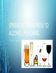 Spreading awareness to alcohol poisoning 12