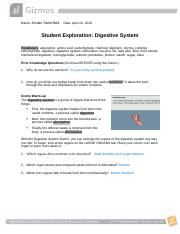 Digestive System Gizmo - ExploreLearning.pdf - Digestive ...