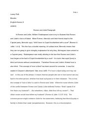 Romeo and Juliet Paragraph.docx