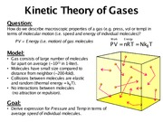 Lecture 2 - Kinetic Theory of Gases