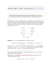 Lecture 2 (Integration by Parts)