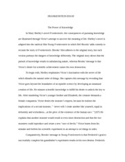 mary shelley frankenstein chapter 5 essay