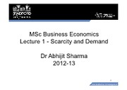 Lecture1 scarcity demand