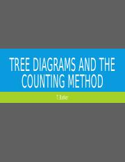 Tree Diagrams and the Counting method.pptx