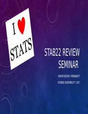 STAB22 Review Session Probability FALL 2017.pptx