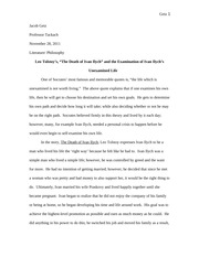 essay from another class