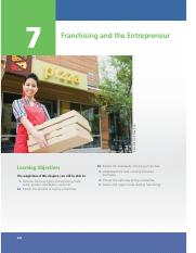 CHAPTER 7 • FRANCHISING AND THE ENTREPRENEUR.pdf
