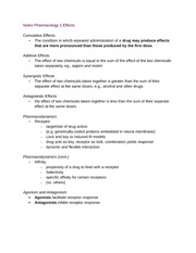 Notes Pharmacology 1 Effects