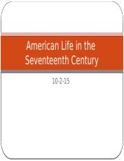 10-2 American Life in the 17th Century c.pptx