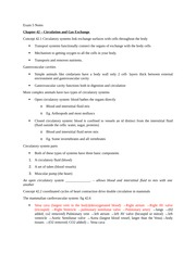 Exam Five Notes