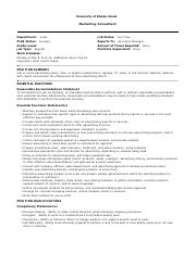 JobDescriptionReport Final