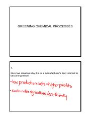 lesson 1 introduction greening chemical processes classnotes