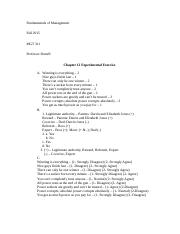 Chapter 12 Experimental Exercise MGT 311 Jones K.docx