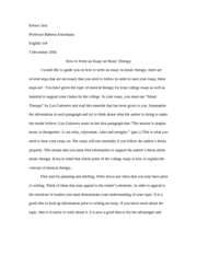 How to write a music essay