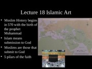 lecture 18 19  islamic Medievalweb