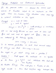 Math 16B Analytical Geometry and Calculus Lagrange Multipliers and Constrained Optimization Notes