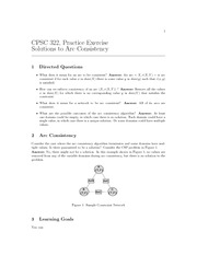 CPSC 322 Fall 2010 Excercise Worksheet 4 Solutions