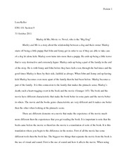 Marley and Me paper