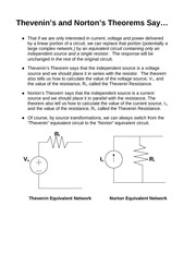 Thevenin & Norton's Theorems Review