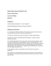 Bus642  Business Research Methodsassignment 1