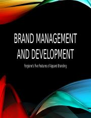 Brand management and development