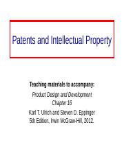 Patents_Intellectual_Property-Ch16.ppt
