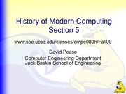 Lecture 5 - The 1980s