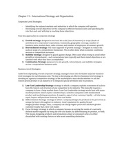 International Strategy and Organization Notes