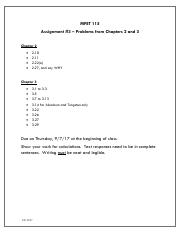 August 30, 2017  Jennifer Nevius  (jnevius@sdccd.edu) - 8-29 Class (Assignment #3 – Problems from Ch