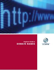 ICANN - Beginners Guide to Domain Names