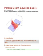 Lecture 2 on Gaussian beam basic 5358_p