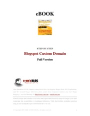 Ebook Blogspot Custom Domain