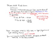 Math 3339 Final Exam Review