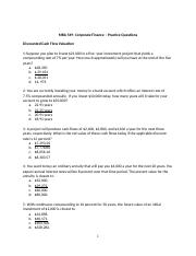 MBA 549- Corporate Finance- practice questions 1.docx