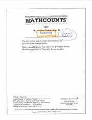 MathCounts-2007 Sprint (Chapter)-KEY, Solutions.pdf