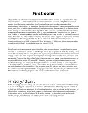Company profile - First Solar