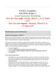 Compilers Project 1