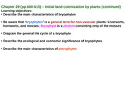BB lecture 2-20-09, Plants II