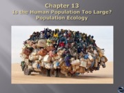 Bio 100 chapter 13 - human population Lecture