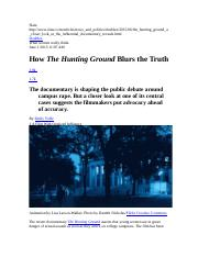 Critique of The Hunting Ground