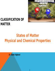 Classification of Matter and changes Lecture 1.ppt