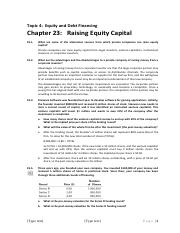 Topic 4 - Debt and Equity Financing Assignment Solutions.pdf