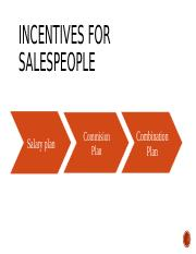 Incentives fos Sales People
